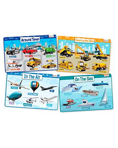 merka Educational Kids Placemats - Includes: Police Car,