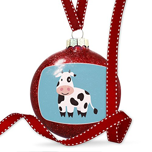 Christmas Decoration Cute Animals for Kids Cow Ornament by NEONBLOND