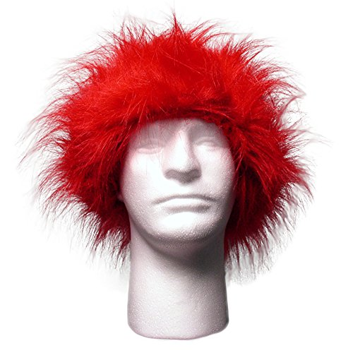 Sports Novelties Wig, Red -