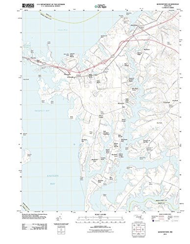 Maryland Maps   2011 Queenstown, MD USGS Historical Topographic Map  Fine Art Cartography Reproduction - Md Queenstown