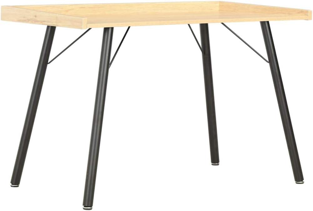 vidaXL Escritorio Mesa Trabajo Oficina Estudio Despacho Decoración Diseño Estilo Mobiliario Mueble Ordenador Hogar Bricolaje 90x50x79 cm Color Roble