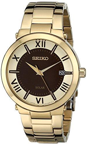 (Seiko Women's SNE884 Analog Display Japanese Quartz Gold Watch)