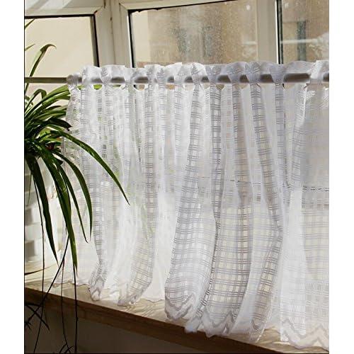 Sheer Cafe Curtains Amazon Com: White Cafe Curtain: Amazon.com