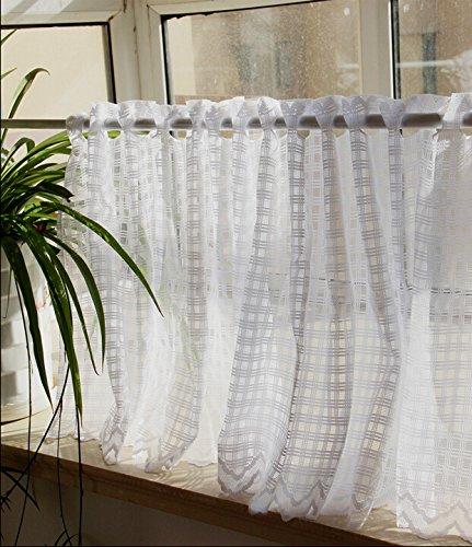 Sheer Kitchen Curtains Amazon Com: White Cafe Curtains: Amazon.com