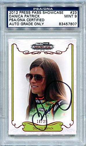 Danica Patrick NASCAR PSA/DNA Certified Authentic Autograph - 2012 Press Pass Showcase #18/25 (Autographed Racing Cards)