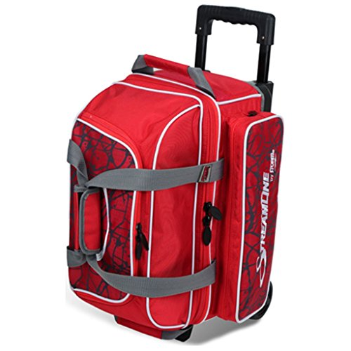 Storm Streamline 2 Ball Roller Bowling Bag Red Crackle/Red (Storm Bowling 2 Ball Bag)