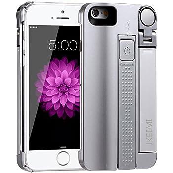 Selfie Stick Case,JKEEMI Portable 3 in 1 Bluetooth Selfie Stick Phone Case with Built in Rechargeable Bluetooth and Stretchable Selfie Stick for iphone 6/6s 4.7
