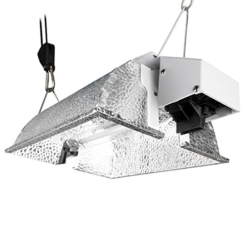 VIVOSUN Compact Reflector Hood for Double Ended HPS Lamps with 98% Reflective Italian Vega Aluminum (Best Double Ended Reflector)