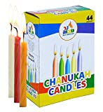 Toys : Ner Mitzvah Colorful Chanukah Candles - Standard Size Fits Most Menorahs - Premium Quality Wax - Assorted Colors - 44 Count for All 8 Nights of Hanukkah