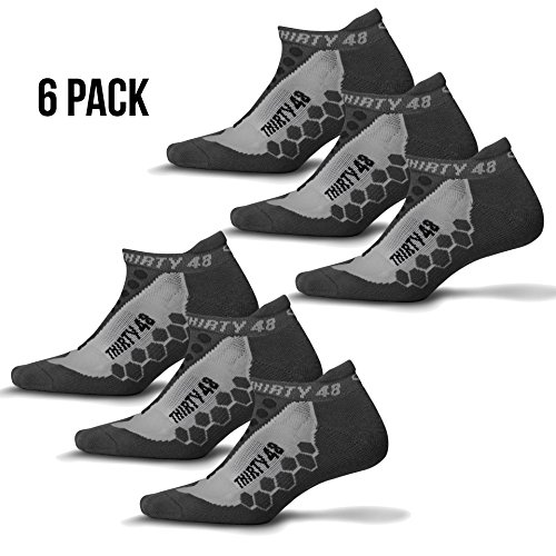 Thirty 48 Running Socks for Men and Women -CoolMax Fabric Keeps Feet Cool & - For A Pack Running Six