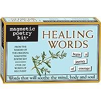 Poesía magnética - Kit de palabras de sanación - Palabras para refrigerador - Escribir poemas y letras en el refrigerador - Hecho en los Estados Unidos