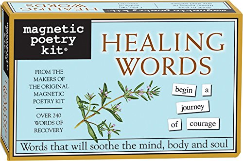 Magnetic Poetry - Healing Words Kit - Words for Refrigerator - Write Poems and Letters on the Fridge - Made in the USA