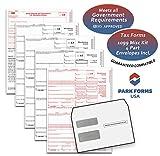 2017 Laser Tax Forms - 1099-MISC Income 4-Part Set & Envelope Kit for 25 Individuals - Park Forms
