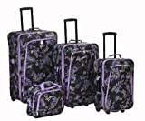 Rockland Luggage Garden 4 Piece Luggage Set, Garden, One Size, Bags Central
