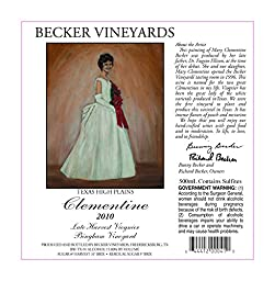 2012 Becker Vineyards Clementine Late Harvest Sauvignon Blanc 500mL