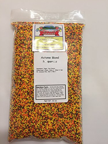 Candy Nonpareils for Desserts (Autumn Fall Blend (Orange,