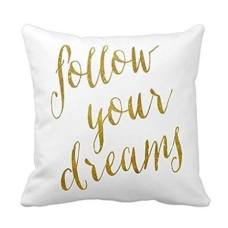 Jxrodekz Cita de Follow Dreams Faux Gold Foil Metallic Print ...