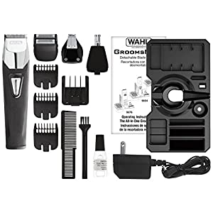 Wahl Clipper Groomsman Pro All in One Men's Grooming Kit, Rechargeable Beard Trimmers and Hair Clippers for Mustache, Stubble, Ear, Nose, Body Grooming by the brand used by professionals #9860-700