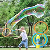 YIZI Giant Bubble Wand?Giant Bubble Toy 3 Piece Set for Boy Girl Kids Outdoor Toy Best Choice