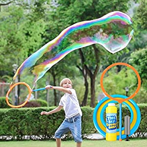 51SVEqlMyFL. SS300  - YIZI Giant Bubble Wand,Giant Bubble Toy 3 Piece Set for Boy Girl Kids Outdoor Toy Best Choice