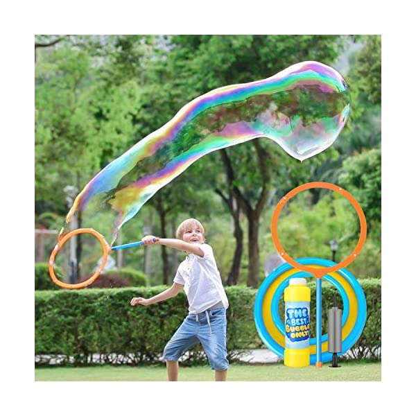 51SVEqlMyFL. SS600  - YIZI Giant Bubble Wand,Giant Bubble Toy 3 Piece Set for Boy Girl Kids Outdoor Toy Best Choice