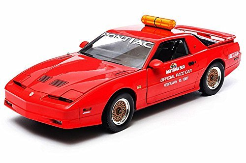 Greenlight 1987 Pontiac GTA, Daytona 500 Pace Car, Red Nascar 12858 - 1/18 Scale Diecast Model Toy Car