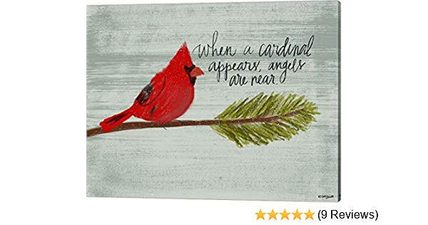 Cardinal When You Believe Beyond What Your Eyes Can See Canvas 0.75in Framed