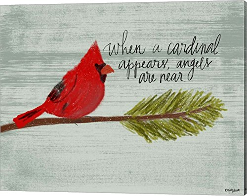 Cardinal by Katie Doucette Canvas Art Wall Picture, Gallery Wrap, 20 x 16 inches (Cardinals Pictures Of)