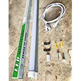 """1-Pack 48"""" LED Tube Daylight 4-foot Long Integrated T8 LED Tube Light Fixture - 6500K - 24W LED (=180 Watt) with US Plug and Linkable Connection"""