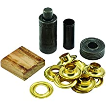 General Tools 71264 Grommet Kit with 12 Solid Brass Grommets, 1/2-Inch