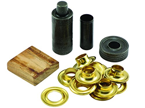 General Tools 71264 Grommet Kit with 12 Solid Brass Grommets, 1/2-Inch ()