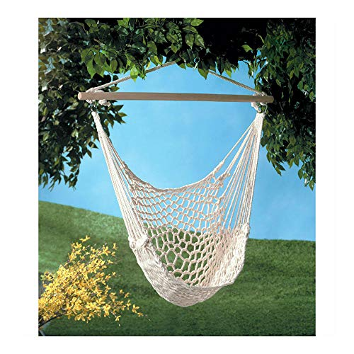 Blackwell Hanging - Hanging Swing Chair Weave Rope Hammock Outdoor Porch Yard Tree Cotton Polyester
