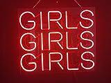 Desung 17'' Girls Girls Girls Custom Design Decorated Acrylic Panel Handmade Man Cave Neon Sign Light UT01