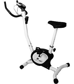 Bicicleta Estática de Fitness Aparato Doméstico Plegable con Consola y Sensores de Pulso en Manillar Negro