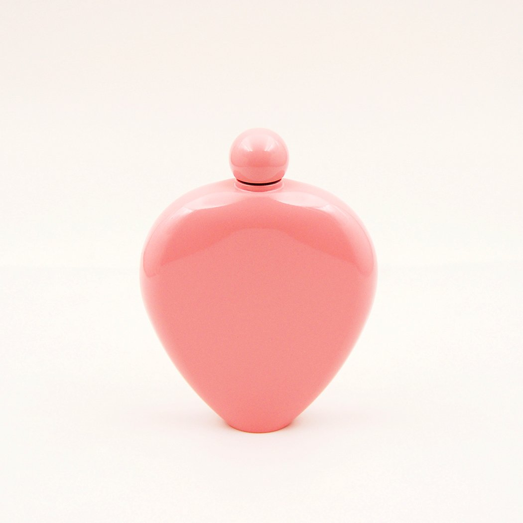 Popular Pink Painting-YM802 iSavage 6oz 18//8 Stainless Steel Heart Shaped Hip Flask
