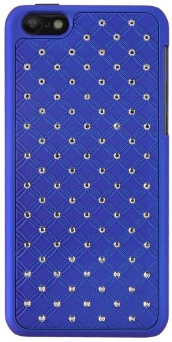 Custodia back cover hard case blu con strass per Apple Iphone 5 Custodia rigida Cover Protettiva Bumper