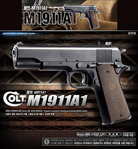 アカデミーコルトM1911A1エアガンピストルBBショットガン6 mmハンドグリップおもちゃキッズ