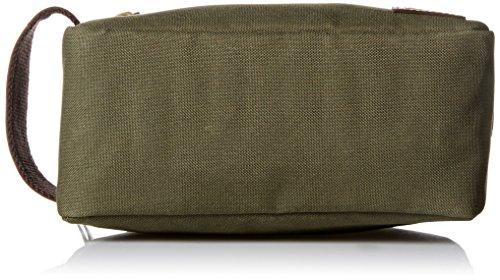 51SVGj0XOYL - Timberland Men's Toiletry Bag Canvas Travel Kit Organizer, Olive, One Size
