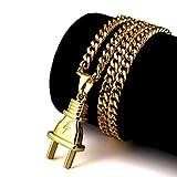 NYUK New Arrival Mens Gold Jewelry Plug Pendant Original 18k Hip Hop Necklace