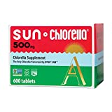 Sun Chlorella - Chlorella Superfood Nutritional Supplement- 500 Mg (600 Tablets)