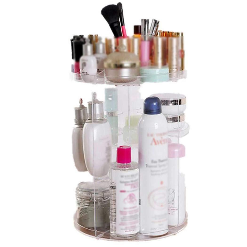 ernufet Makeup Storage Organizer Rotating Adjustable Storage Cases Holder Makeup Organizers