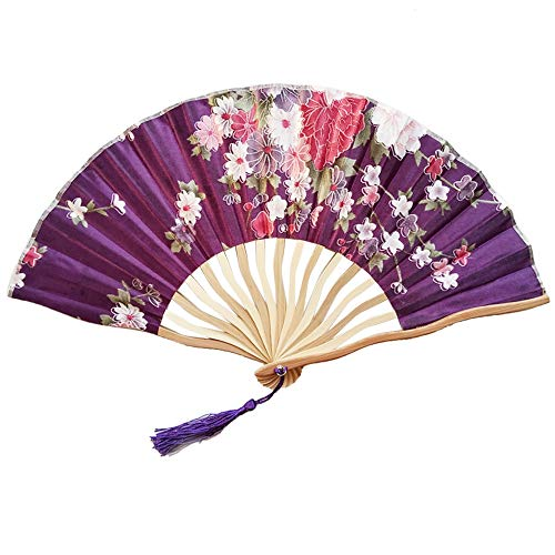 NEARTIME Chinese Style Hand Held Fan Bamboo Paper Folding Fan Party Wedding Decor (Free Size, L) for $<!--$0.98-->