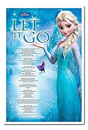 La Reine Des Neiges Let It Go Paroles De Chanson Poster Blanc