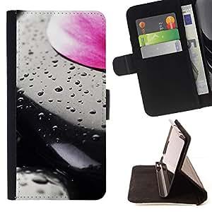 For Sony Xperia M2 Case , Planta Naturaleza Forrest Flor 93- la tarjeta de Crédito Slots PU Funda de cuero Monedero caso cubierta de piel