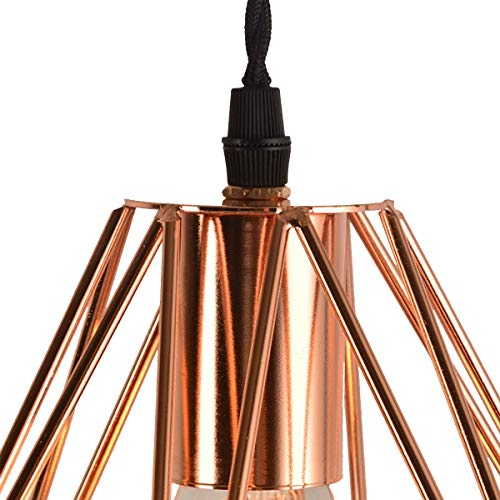 NANGE Modern Chandelier,Personality Plating Rose Gold Pendant Lights,Kitchen Island Table Dining Room Bedroom Entryway Hanging Lamp,E27(Without Light Source) (Color : AC 110V, Size : Gold) by NANGE (Image #3)