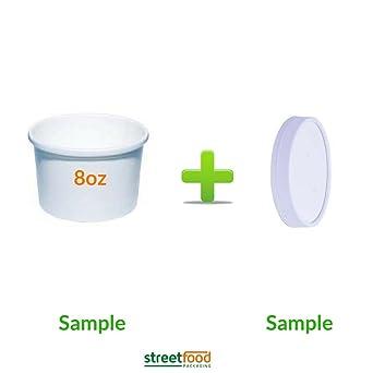 Recipiente para sopa de papel blanco con tapas de ventilación ...