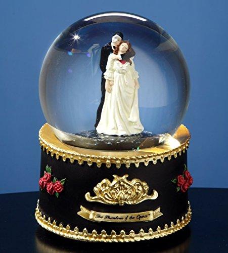 Phantom and Christine Rotating Water Globe by The San Francisco Music Box Company -