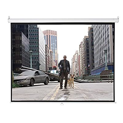 "100"" 4:3 Manual Pull Down Projector Projection Screen Home Theater Movie 80""x60"""