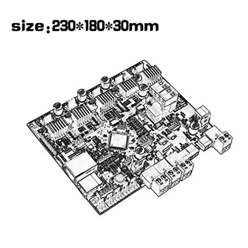 Zamtac 3D Printer Motherboard Engraving Machine Main Control Board Smoothieboard 5X V1.0 CNC Open Source firmware - (Color: Black) by GIMAX (Image #6)