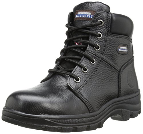 Skechers for Work Women's Workshire Peril Boot, Black, 8 M US (Best Comfortable Hiking Boots)
